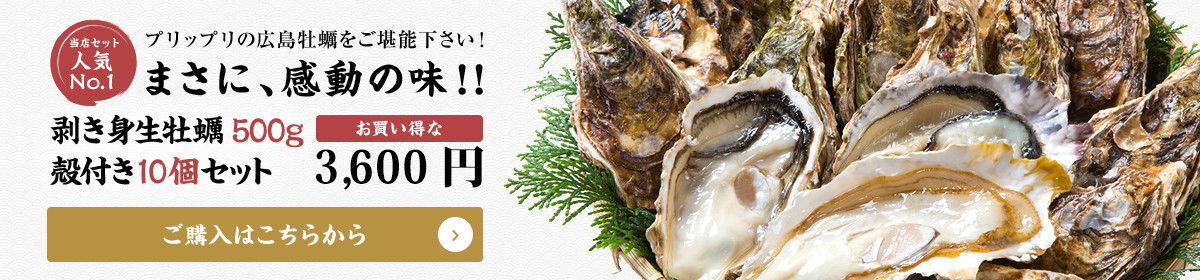 プリップリの広島牡蠣をご堪能下さい!